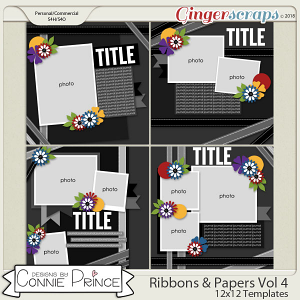 Ribbons & Papers Volume 4 - 12x12 Temps (CU Ok) by Connie Prince