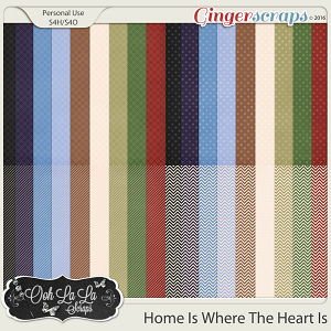 Home Is Where The Heart Is Patterned Papers