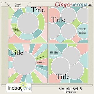 Simple Set 6 Templates by Lindsay Jane