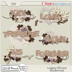 Legacy Of Love - WordArt