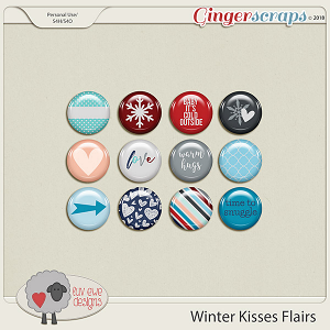 Winter Kisses Flairs by Luv Ewe Designs