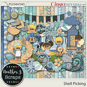 Shell Picking KIT by Heather Z Scraps