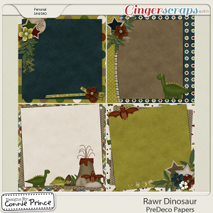 Rawr Dinosaur - PreDeco Papers