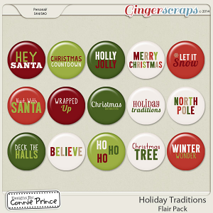 Holiday Traditions - Flair Pack