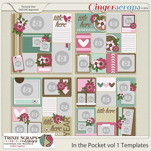 In the Pocket vol 1 Template Pack by Trixie Scraps Designs