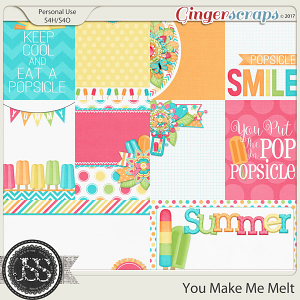 You Make Me Melt Pocket Scrapbook Cards