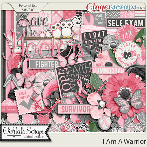 I Am A Warrior Digital Scrapbooking Kit