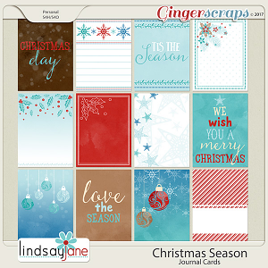 Christmas Season Journal Cards by Lindsay Jane