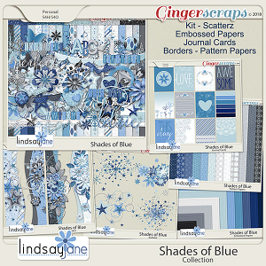 Shades of Blue Collection by Lindsay Jane