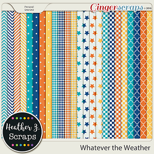 Whatever the Weather EXTRA PAPERS by Heather Z Scraps