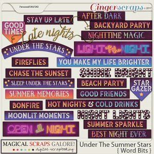 Under The Summer Stars (word bits)