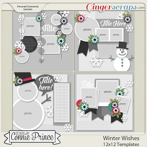 Winter Wishes - 12x12 Templates (CU Ok)