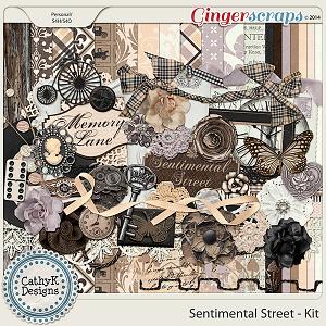 Sentimental Street Kit: by CathyK Designs