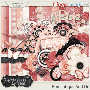Romantique Add On Mini Digital Scrapbooking Kit