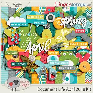 Document Life April 2018 Kit by Luv Ewe Designs