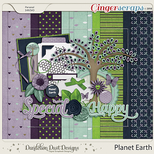 Planet Earth Digital Scrapbook Kit By Dandelion Dust Designs