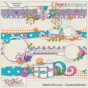 Baked with Love Clustered Borders