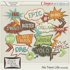 His Teen Life {words} by Little Rad Trio