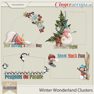 Winter Wonderland Clusters by JoCee Designs
