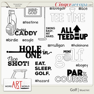 Golf Word Art