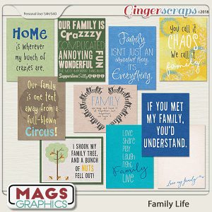 Family Life JOURNAL CARDS by MagsGraphics