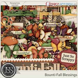 Bounti-Fall Blessings Digital Scrapbooking kit