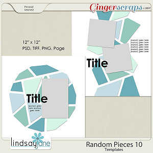 Random Pieces 10 Templates by Lindsay Jane