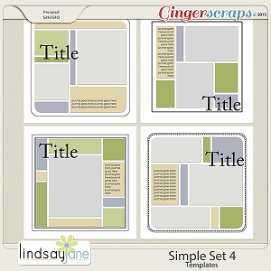 Simple Set 4 Templates by Lindsay Jane