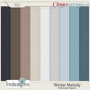 Winter Melody Embossed Papers by Lindsay Jane