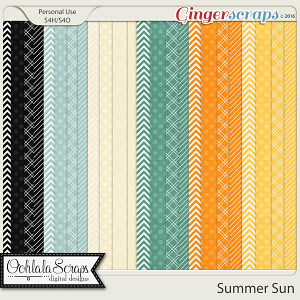 Summer Sun Patterned Papers