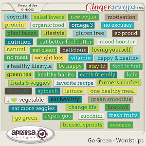 Go Green - Wordstrips