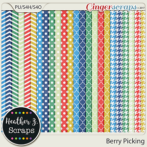 Berry Picking BASIC PAPERS by Heather Z Scraps