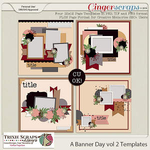 A Banner Day vol 2 Template Pack by Trixie Scraps Designs