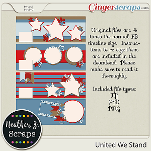 United We Stand FB TIMELINE COVERS by Heather Z Scraps