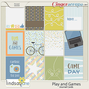 Play and Games Journal Cards by Lindsay Jane