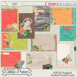 #2016 August - Stacked Pocket Cards
