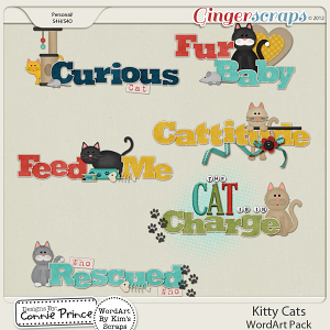 Kitty Cats - WordArt
