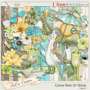 Come Rain Or Shine Page Kit by LouCee Creations