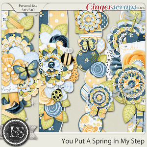 You Put A Spring In My Step Page Borders