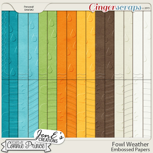 Fowl Weather - Embossed Papers