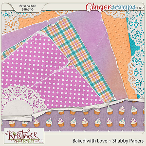 Baked with Love Shabby Papers