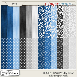 {HUES} Beautifully Blue - Extra Papers
