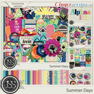 Summer Days Digital Scrapbooking Collection