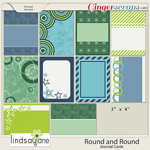 Round and Round Journal Cards by Lindsay Jane