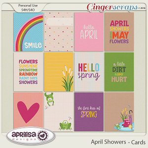 April Showers - Cards by Aprilisa Designs