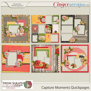 Capture Moments Quickpages by Trixie Scraps Designs