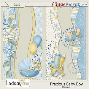 Precious Baby Boy Borders by Lindsay Jane