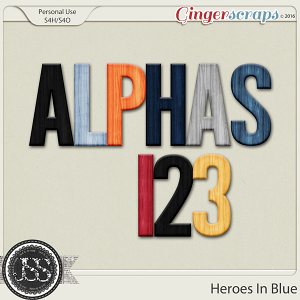 Heroes In Blue Alphabets