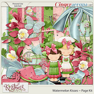 Watermelon Kisses Page Kit