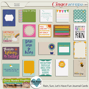 Rain, Sun, Let's Have Fun Journal Cards by Clever Monkey Graphics & Blue Heart Scraps